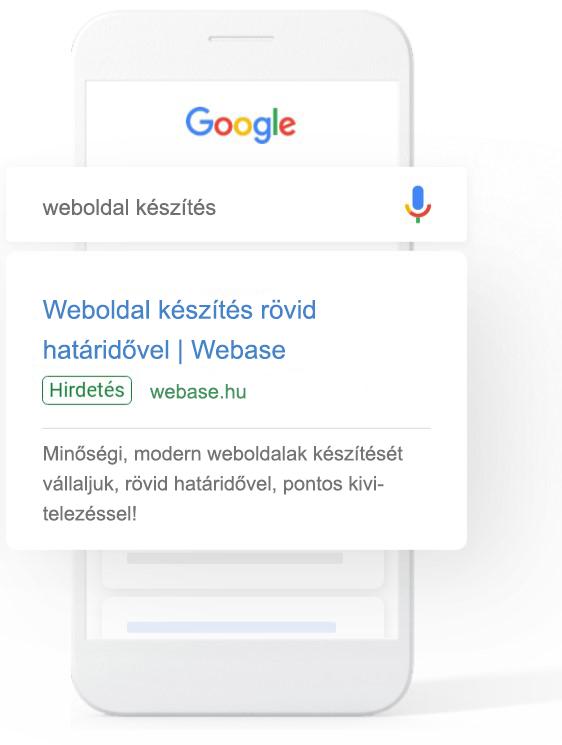 google ads hirdetés mobilon